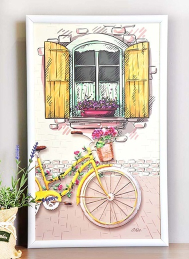 Tablo Bisiklet C - 50*30 Cm -The Mia